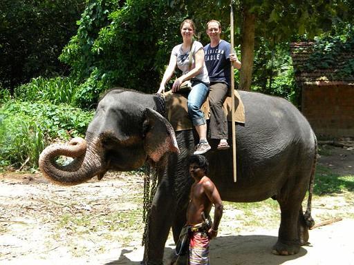 Elephant Ride, Tony and Kristin from Germany